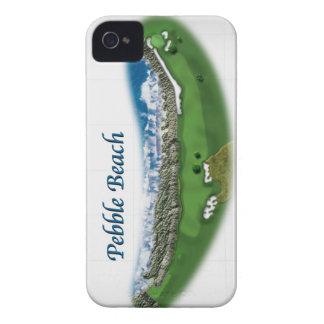 Cubierta del iPhone del agujero 18 de Pebble Beach Case-Mate iPhone 4 Funda