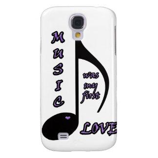 Cubierta del iphone del amor de la música