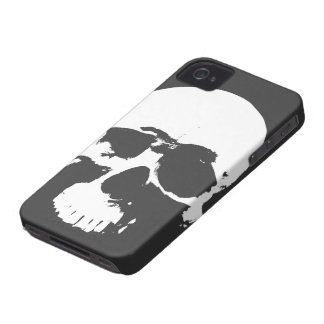 Cubierta del iPhone del cráneo de la muerte de Pun Case-Mate iPhone 4 Funda