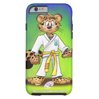 Cubierta del iPhone del dibujo animado del jaguar Funda De iPhone 6 Tough