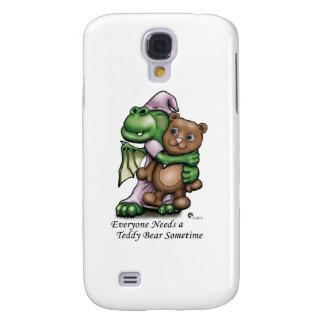 Cubierta del iPhone del dragón y del oso