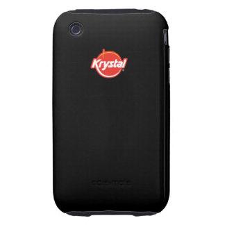 Cubierta del iPhone del logotipo de Krystal iPhone 3 Tough Carcasas