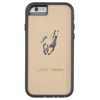 Cubierta del iPhone del marrón del caballo salvaje Funda De iPhone 6 Tough Xtreme