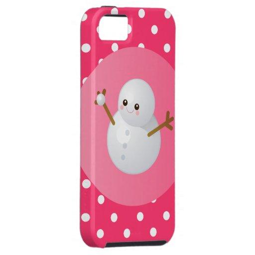 Cubierta del iPhone del muñeco de nieve iPhone 5 Cárcasas