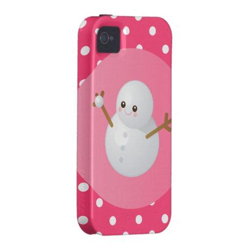 Cubierta del iPhone del muñeco de nieve Vibe iPhone 4 Fundas
