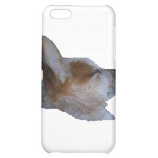 cubierta del iPhone el dormir rojo del perro