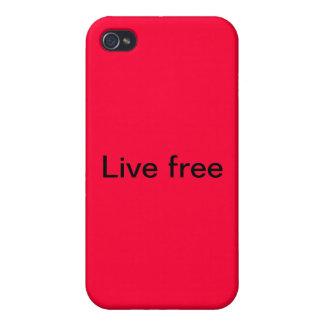 cubierta del iPhone Libre vivo iPhone 4 Cárcasas