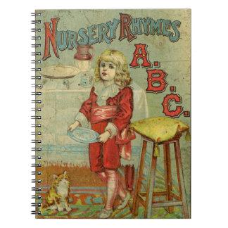 Cubierta del libro de niños de ABC de las poesías  Libretas Espirales