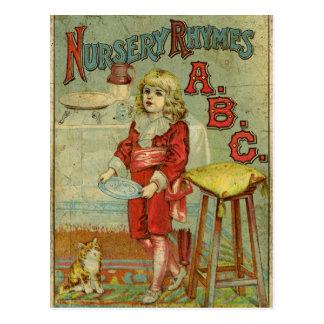 Cubierta del libro de niños de ABC de las poesías  Tarjeta Postal
