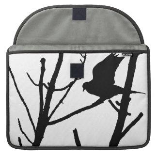 Cubierta del mac de la silueta de la paloma fundas para macbook pro