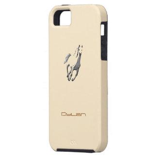 Cubierta del marrón del caballo salvaje del iphone iPhone 5 carcasa