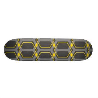 Cubierta del monopatín de Panal (oro) Skate Boards