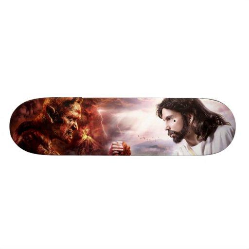 Cubierta del monopatín del infierno o del cielo skate boards