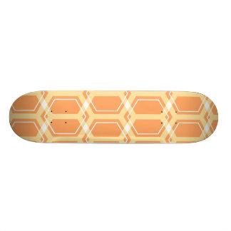Cubierta del monopatín del panal (naranja) skate board