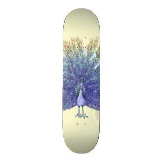 Cubierta del monopatín del pavo real patineta personalizada