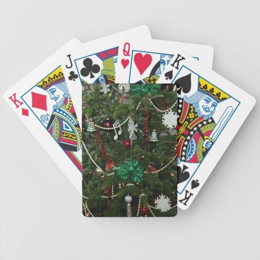 Cubierta del navidad de naipes baraja de cartas