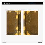 Cubierta del oro y de libro viejo kindle fire pegatinas skins