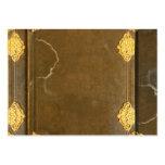 Cubierta del oro y de libro viejo tarjetas personales