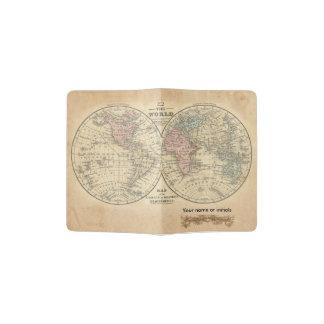 Cubierta del pasaporte del mapa de Viejo Mundo Porta Pasaportes