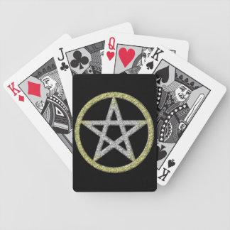 Cubierta del Pentagram de los naipes Wicca Wiccan Barajas De Cartas