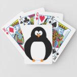 Cubierta del pingüino de tarjetas baraja