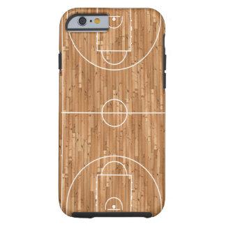 Cubierta del proceso legal de cancha de básquet funda de iPhone 6 tough