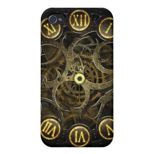 Cubierta del reloj iPhone4 de Steampunk iPhone 4 Fundas