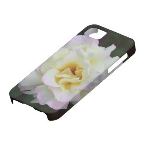 Cubierta del rosa blanco iPhone 5 Case-Mate cobertura
