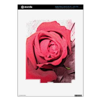 Cubierta del rosa rojo iPad 3 skin