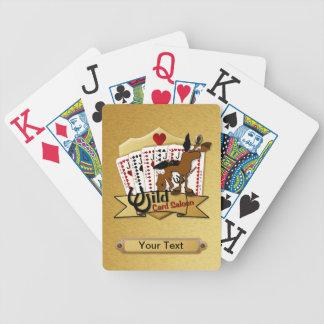 Cubierta del salón del comodín barajas de cartas