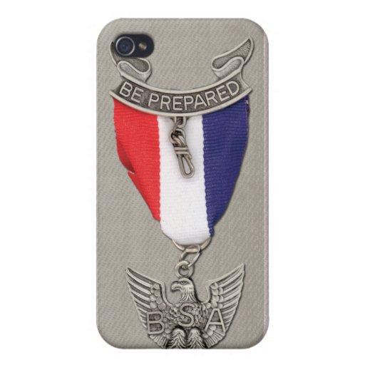 Cubierta del teléfono celular de Eagle Scout iPhone 4 Fundas