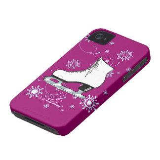 Cubierta del teléfono celular del patín de hielo iPhone 4 protectores