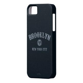 Cubierta del teléfono de Brooklyn Nueva York iPhone 5 Case-Mate Protectores