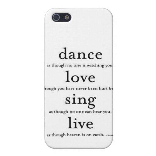 Cubierta del teléfono de la danza iPhone 5 carcasa