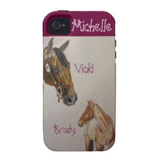 Cubierta del teléfono de la k de Michelle iPhone 4 Carcasa