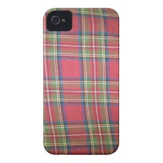 Cubierta del teléfono de la tela escocesa iPhone 4 Case-Mate fundas