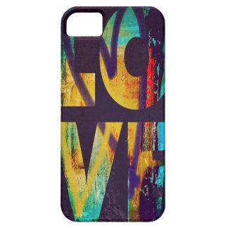 cubierta del teléfono de las letras de amor de los iPhone 5 carcasa