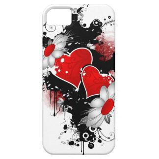 cubierta del teléfono de los corazones i iPhone 5 fundas