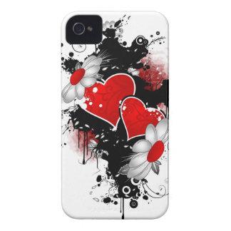 cubierta del teléfono de los corazones i iPhone 4 Case-Mate cobertura