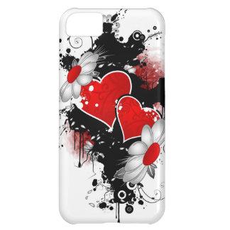 cubierta del teléfono de los corazones i funda para iPhone 5C