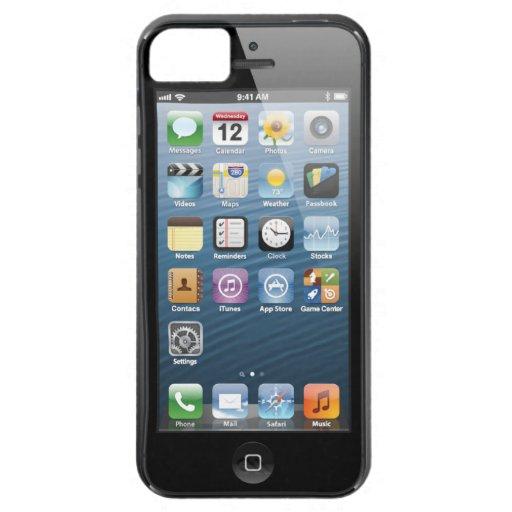 cubierta del teléfono de pantalla de inicio del iP iPhone 5 Case-Mate Cobertura