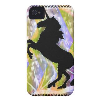 Cubierta del teléfono del amor del unicornio por Case-Mate iPhone 4 carcasa