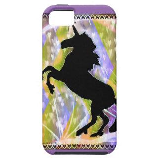 Cubierta del teléfono del amor del unicornio por iPhone 5 carcasas