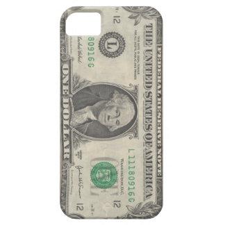 cubierta del teléfono del billete de dólar $1,00 iPhone 5 protector