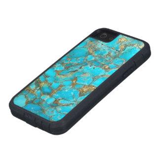 Cubierta del teléfono del modelo de la turquesa iPhone 5 Case-Mate protector