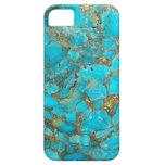 Cubierta del teléfono del modelo de la turquesa iPhone 5 Case-Mate carcasa