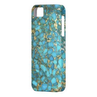 Cubierta del teléfono del modelo de la turquesa iPhone 5 fundas