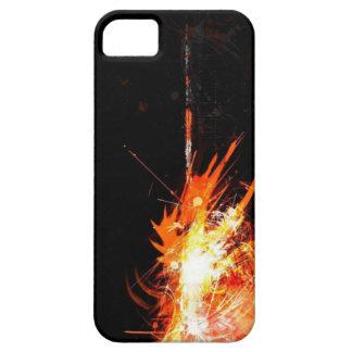 cubierta del teléfono del negro y del naranja i iPhone 5 funda
