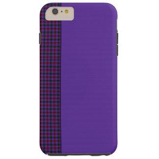 Cubierta del teléfono del panel del tartán de funda resistente iPhone 6 plus