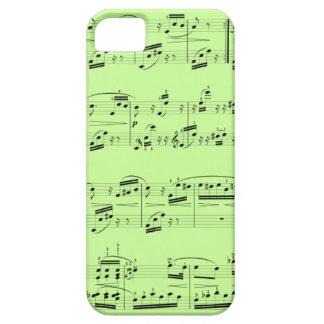 Cubierta del teléfono - partitura negra - escoja s iPhone 5 protector